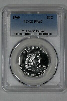 1960 Franklin Half Dollar 50C Pcgs Certified Pr 67 Proof Cameo (864)