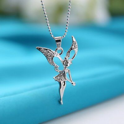 Lovely Crystal Magic Fairy Pendant Necklace Women Good Luck Jewelry Party Gift