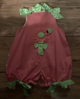 Mud Pie Girls One Piece Outfit Size 0-6 Months Pink Green Flower