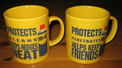 WD-40 Mugs  ... Protects Penetrates & Cleans Helps Keep Friends