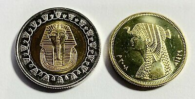 2008 Egypt King Tut & Cleopatra Uncirculated Two Coins