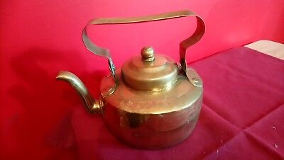 Small Antique Hand Hammered Brass Kettle The Odd Bump