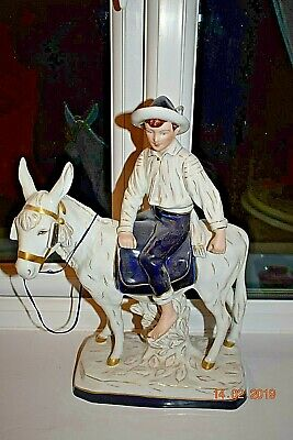 ROYAL DUX BOY ON A DONKEY LARGE 16 X 12 INS  BEAUTIFUL c1960