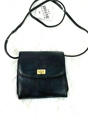 New Crossbody Bag Koltov Black Organizer Slots Removable Strap Gold Hardware