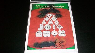 Christmas Trimmings In Hardanger Embroidery Rosalyn Watnemo New