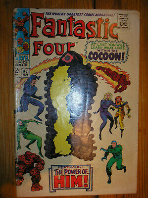 FANTASTIC FOUR # 67 1st APP 'HIM' LEE KIRBY 12c SILVER AGE MARVEL COMIC BOOK