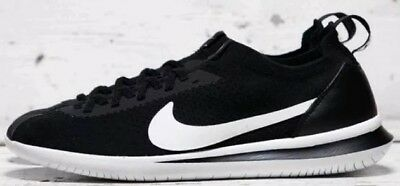 60b0a19ad4bc8 Nike Cortez Flyknit Black And White Men s Trainers Size 8.5 Bnib AA2029 001