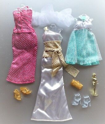 Barbie Fashion Fever Complete Look 3 Pack Hollywood Dress & Accs Fashionista