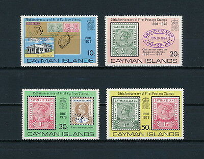 Cayman Islands  368-71 MNH, First Postage Stamps, 1976