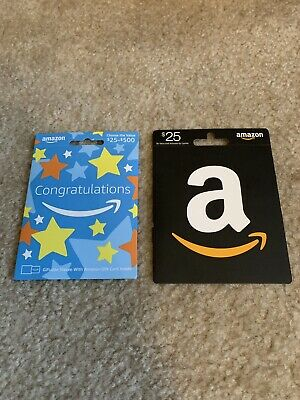 2 $25 Amazon Gift Cards $50 Total Unused and Brand New!!