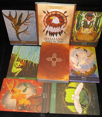 Brand New! Shamanic Medicine Oracle Cards & Book Healing Energy Open For Pics