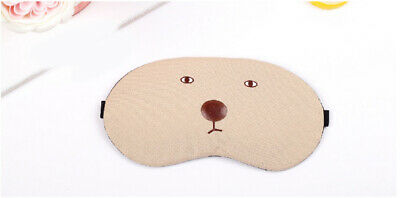 A97 Beige Cartoon Bear Originality Animal Sleeping Eye Mask Travel Eyepatch A