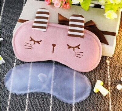 A83 Pink Cute Raccoon Originality Animal Sleeping Eye Mask Travel Eyepatch A