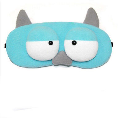 A43 Blue Monster Cartoon Originality Sleeping Eye Mask Travel Eyepatch 1 Pcs A