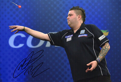 Michael Smith, PDC darts player, signed 12x8 inch photo. COA. Proof.