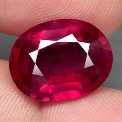19.24 Ct. Oval Facet Jumbo Natural Ruby Top Blood Red Madagascar Prominent