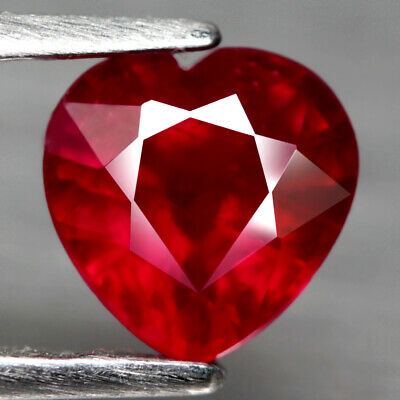 1.65 Ct. Heart Facet Natural Ruby Top Blood Red Madagascar Lovely