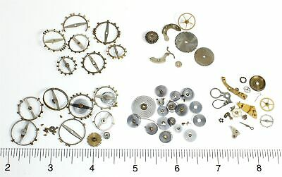 Assorted American Pocket Watch Hairsprings, Balance Wheels, Parts - Oh904