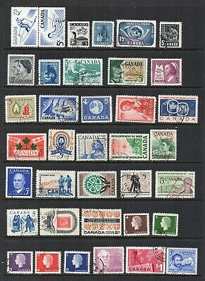 Canada Lot of used stamps from the 1957-1963 period  - 36 stamps some CDS