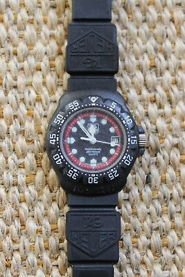 Tag Heuer 383.508 Formula One F1 Watch Womens Black Rubber Plastic Band