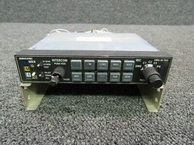 066-01155-0201 Bendix King KMA 26 Marker Beacon Receiver & Isolation W/ Tray 28V