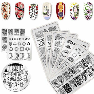 BORN PRETTY Flower Nail Stamping Plates Spring Series Image Printing Templates