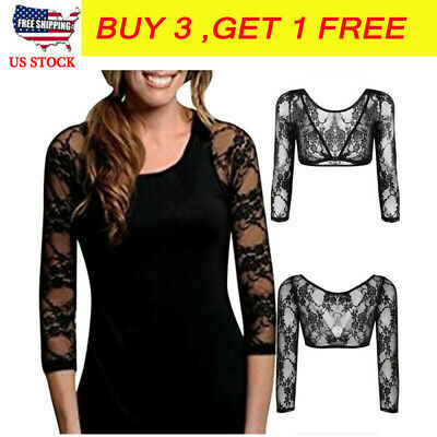 Plus Size Seamless Arm Shaper Tops Women Crop Top Mesh Shirt Blouses LM