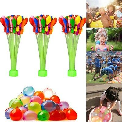333/555pcs Fast Fill Magic Water Balloons Bombs Self Tying Bunch Summer Toys New
