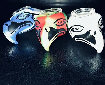 EAGLE Seattle Seahawks Silicone Pipe With Glass Bowl -USA Seller- SILICONE