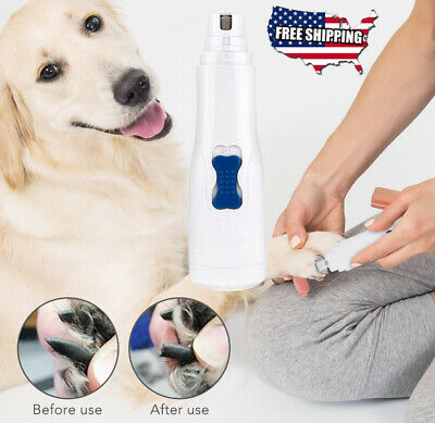 Professional Electric Dog Cat Pet Nail Trimmer Grooming Tool Grinder Clipper Kit