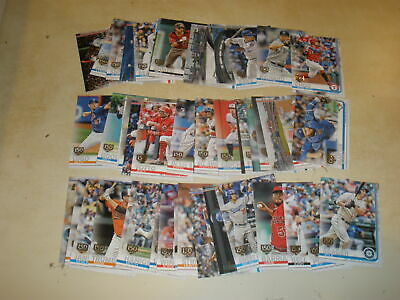 LOT OF (51) 2019 TOPPS SERIES 1 150TH ANNIVERSARY PARALLEL ALL DIFFERENT w/ RC