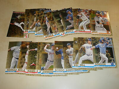 LOT OF (22) 2019 TOPPS SERIES 1 GOLD PARALLEL #/2019 ALL DIFFERENT w/ STARS & RC