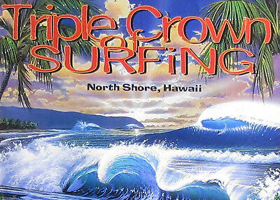 8c174411a9 Mint 1997 Official Triple Crown Hawaii Surfing Steven Powers Gerry Lopez  Poster