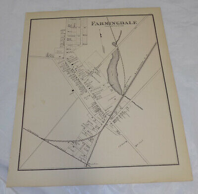 1878 Antique NEW JERSEY Town Map///FARMINGDALE, MONMOUTH COUNTY, NEW JERSEY