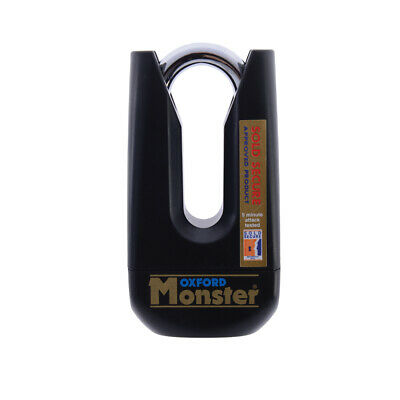 Oxford Monster HD Super Strong Motorcycle Padlock Only Double Locking 11mm OF31