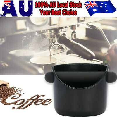 Coffee Knock Box Espresso Grinds Waste Container Tamper Bin Black AU Stock