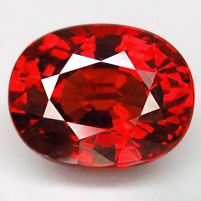 6.25ct.100%Natural Orange Mandarin Spessartite Garnet Unheated AAA Blazing Huge!