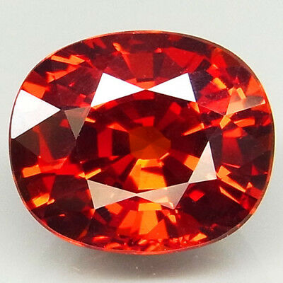 4ct.100%Natural Orange Mandarin Spessartite Garnet Unheated AAA Superior Luster!
