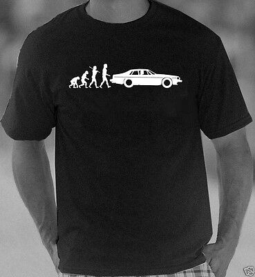 Evolution of Man Jaguar XJS  t-shirt