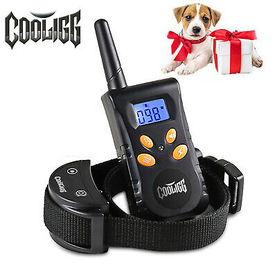 Cooligg Rechargeable Waterproof Electric Dog Training Shock Collar w/ LCD Remote