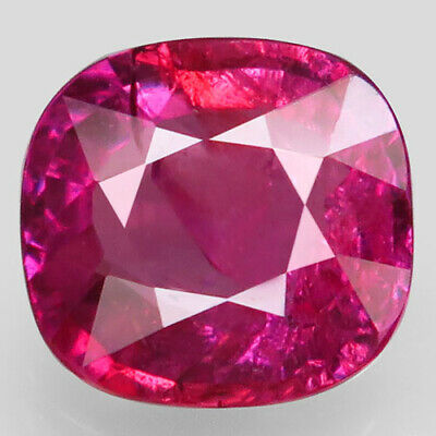3.06ct.Top Pinkish Red Ruby Natural Unheated Mozambique Antique AA CERT.Nr!.