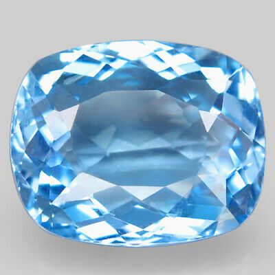 27.41ct.Top Sky Blue Topaz 100%Natural (Brazil) Antique Giant! AAA Charming Nr!.