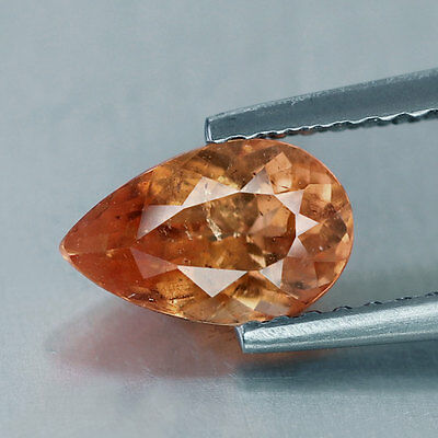 1.33 cts~Fanta Orange~Pear Cut~Nigeria~Natural~Spessartite~PQ479