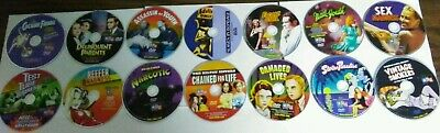 Lot of 14 Exploitation Movies DVDS ONLY! Cocaine Fiends Damaged Lives Narcotic +