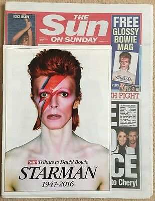 DAVID BOWIE -  Tribute Edition - The Sun On Sunday 17th January 2016