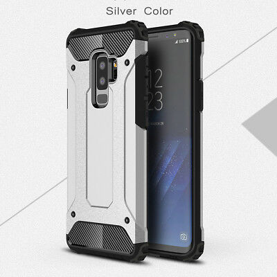 Shockproof Hybrid Hard Protective Case Cover For Samsung S9 Galaxy Plus Silver