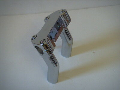 "Handlebar Risers 4"" Pullback & clamp Fits Harley-Davidson 1975 & Later 905765"