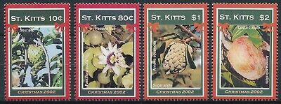 [H16263] St Kitts 2002 FRUITS - Christmas Good set of stamps very fine MNH