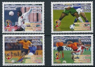 [H16469] Ivory Coast 2001 SOCCER WORLD CUP Good set of stamps very fine MNH
