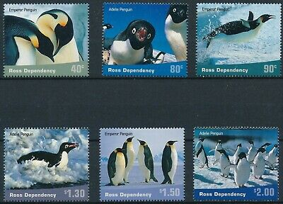 [H16521] Ross dependency 2001 PENGUINS - Fauna Good set of stamps very fine MNH